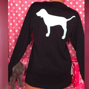 Pink Victorias Secret Campus Dog tee